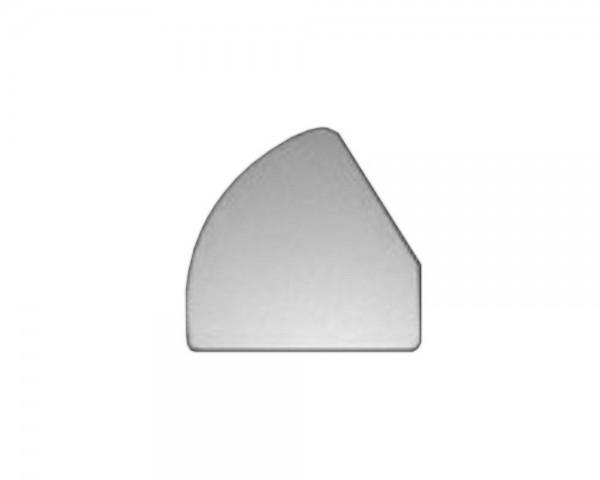Schulte EVOline Deckel 90.766 links silber für Dock Steckdosenleiste