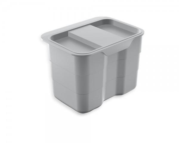 ninka Kitchen biobin 4,2 Liter Multifunktionsbehälter alugrau