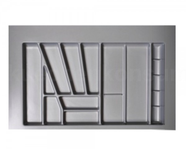 Besteckeinsatz Comfort für 80er Schublade 760 x 540 mm silbergrau