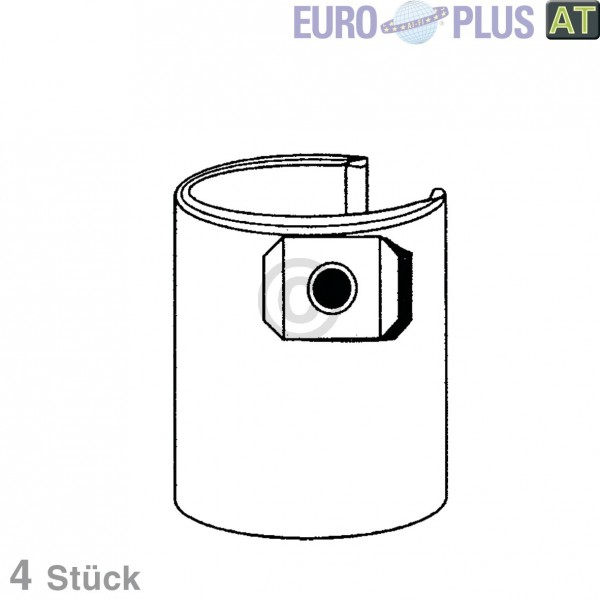 Europart Filterbeutel Europlus TO9503 u.a. für Thomas Inox, Lloyds 4 Stk