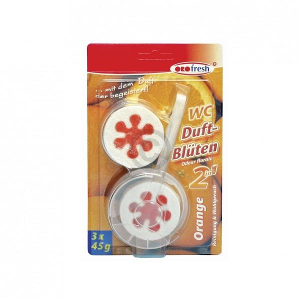 Europart WC-Duftblüten ORO-fresh 2in1 Orange, 3x45g