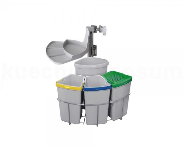 Abfallcenter Nr. 4 Schwenkeimer 9 und 12 Liter m. Biodeckel