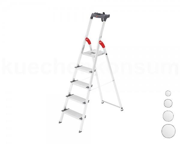 Hailo Alu-Sicherheits-Stufenstehleiter ProfiLine S 150 XXL 3 bis 8 Stufen