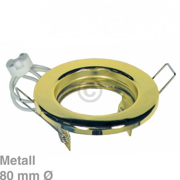 Europart Lampenhalter 80mmØGold Metall-Einbaustrahler starr Rutec 55033