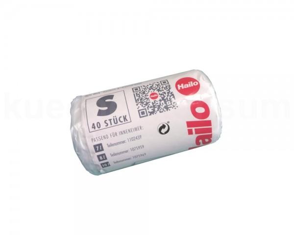 Hailo Müllbeutel S 450 x 560 mm transparent 40 Stück auf Rolle