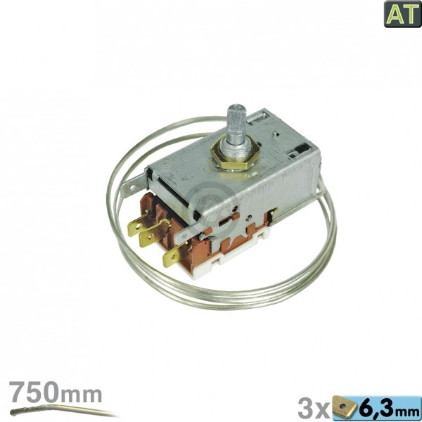 Europart Thermostat K57-L5847 Ranco 750mm Kapillarrohr 3x6,3mm AMP