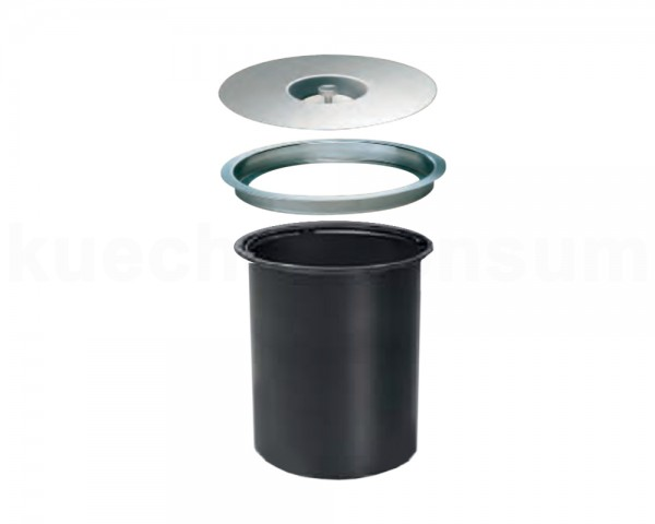 Wesco Abfallsammler Ergo Master 5 Liter Edelstahl mit Müllbeutel