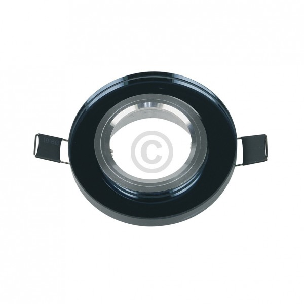 Europart Lampenhalter 90mmØschwarz Kristallglas-Alu-Einbaurahmen LuxoFlex LED102002