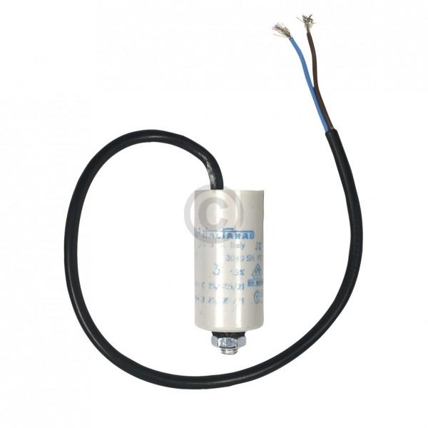 Europart Kondensator 3,00µF 450V Universal mit Anschlusskabel und Befestigungsschraube