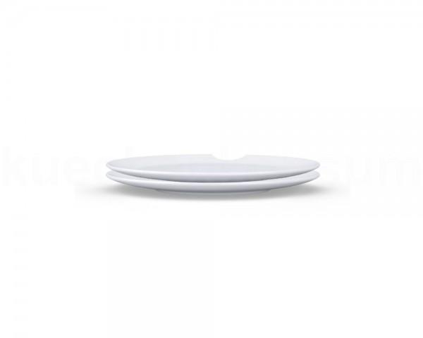 TV Tasse Speiseteller 74 großer Teller mit Biss rund 2er Set 28 cm weiß