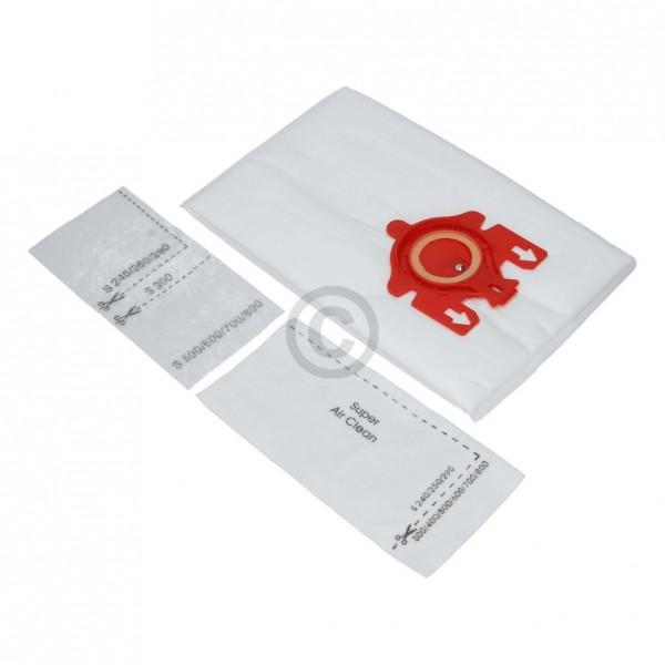 Europart Filterbeutel wie Miele 9917710 Typ F/J/M für Bodenstaubsauger 4Stk + Filtermatten