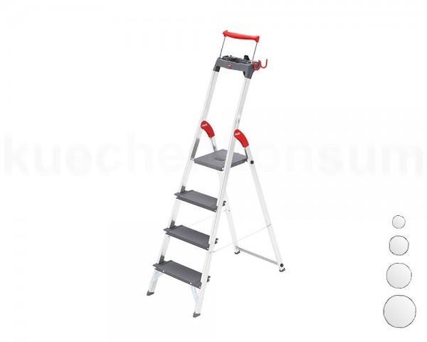 Hailo Alu-Sicherheits-Stufenstehleiter ProfiLine S 225 XXR bis 6 Stufen