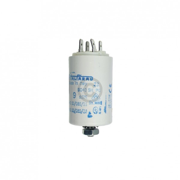 Europart Kondensator 9,00µF 450V Universal mit Steckfahnen und Befestigungsschraube
