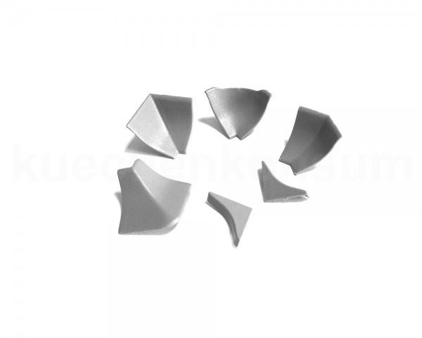 Wandabschlußprofil Piccolo Zubehörsatz grau Endkappe und Winkel