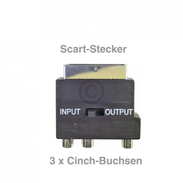 Europart Adapter Scart-Stecker / 3xCinch-Buchse