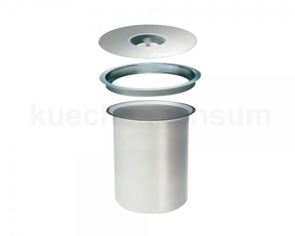 Wesco Abfallsammler Ergo Master 5 Liter Edelstahl / Aluminium mit Müllbeutel