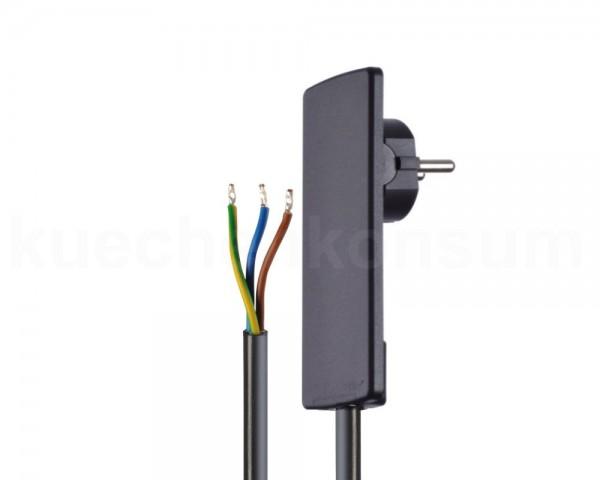 Schulte EVOline Plug 01.511 Flachstecker 1.5 m mit Anschlusskabel schwarz