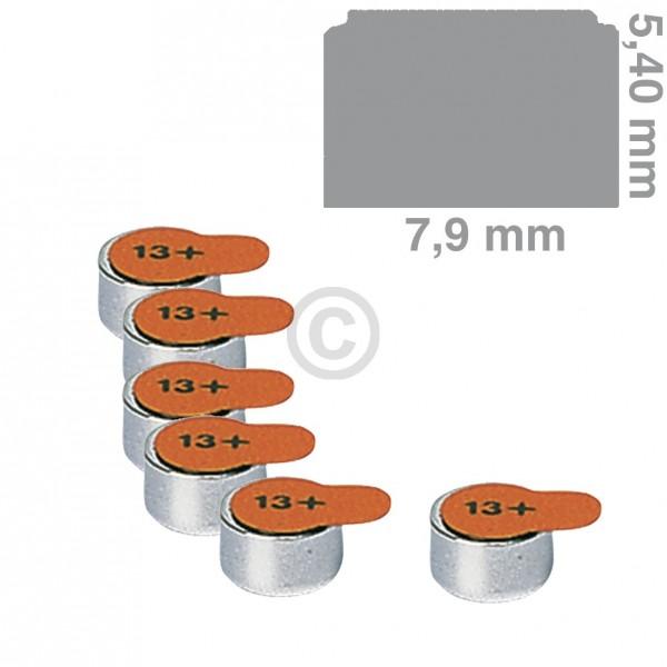 Europart Knopfzelle PR13 Panasonic, 6 Stück