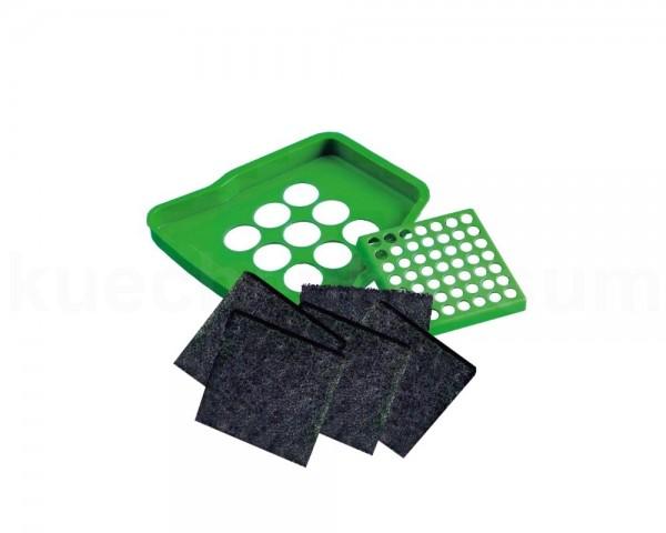 Bio Deckel Schwenkeimer Set grün mit 5x Kohleaktiv Filter