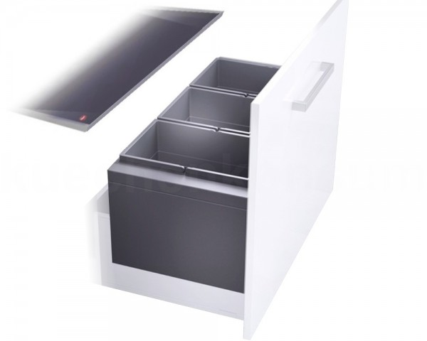 Hailo Abfallsammler 3631981 XL Inset 900 28/28/28 Triple-XL 3x 28 Liter
