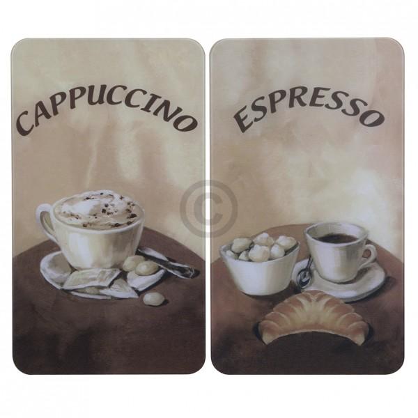 Europart Glasabdeckplatten Motiv Kaffee für Glaskeramikkochfeld 2Stk