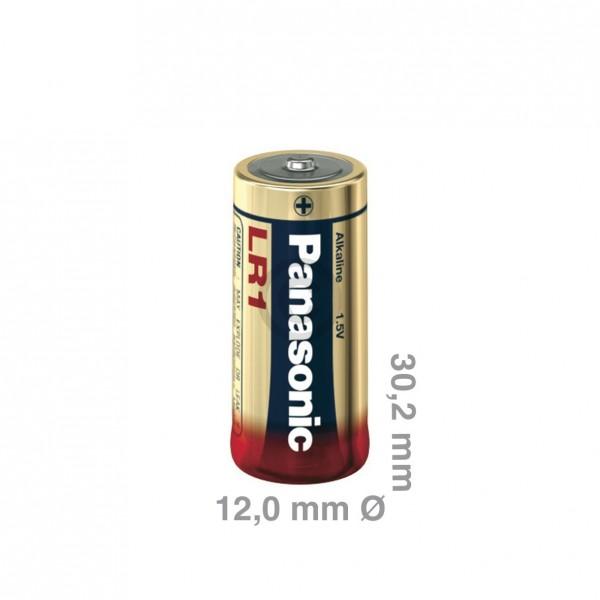 Europart Batterie/Knopfzelle Lady LR1 Panasonic