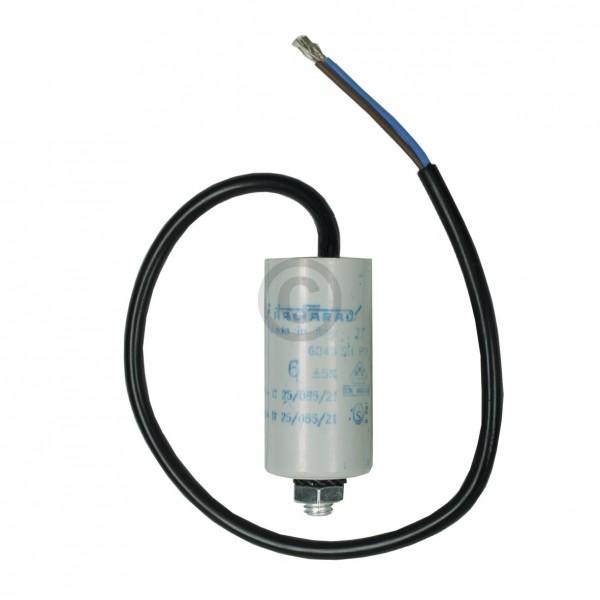 Europart Kondensator 6,00µF 450V Universal mit Anschlusskabel und Befestigungsschraube