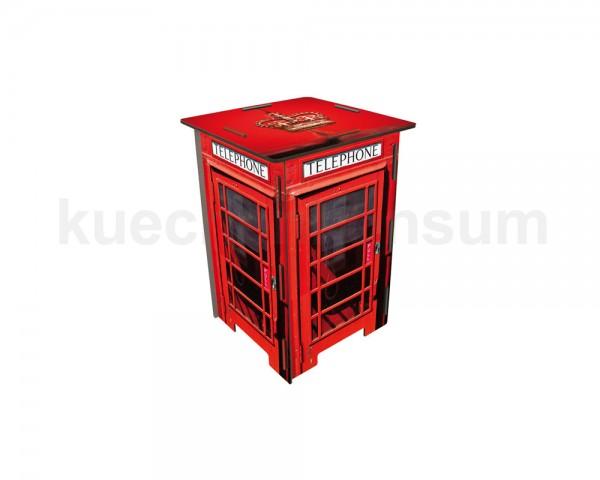 Werkhaus Photohocker SH8221 Telefonzelle London 295 x 295 x 420 mm