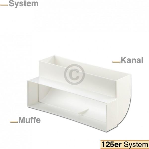 Europart Flachkanalbogen 125erF Naber 4021044 90° vertikal einseitige Muffe für 218x55mm Belüftungst