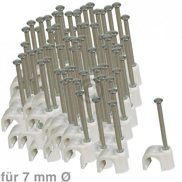 Europart Kabelschelle für 7mm 100 Stück