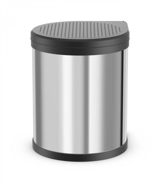 Hailo Abfallsammler 3555-101 Compact-Box 15 Liter Edelstahl poliert Schwarz