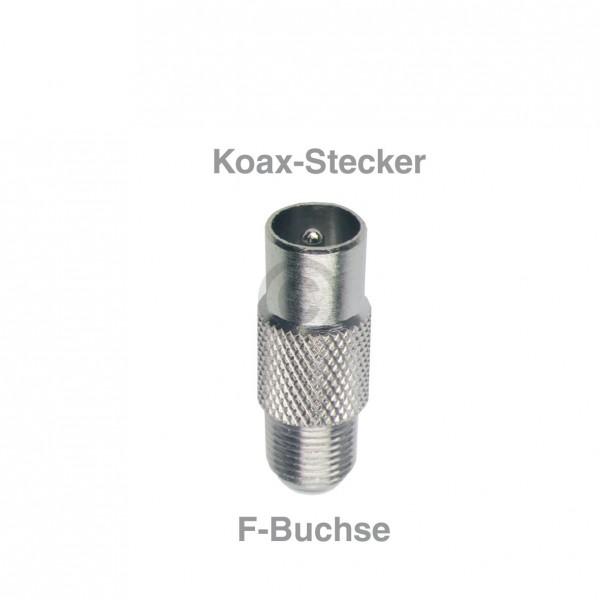 Europart Adapter F-Buchse/Koax-Stecker