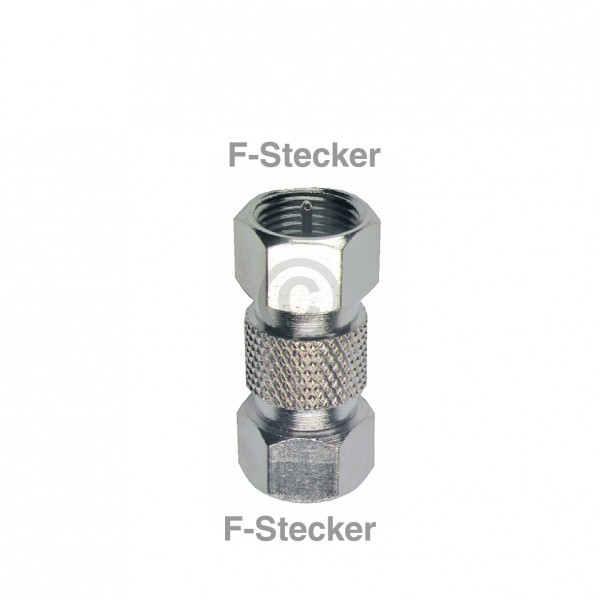 Europart F-Verbinder Stecker/Stecker