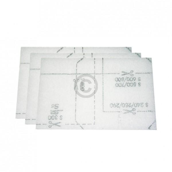 Miele Motorschutzfiltermatte 6713110 170x115 mm für Staubsauger 3Stk