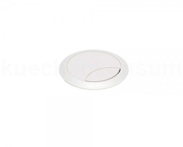 Kabeldurchlass rund 2teilig Kunststoff weiß 60 x 60 mm