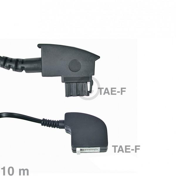 Europart Kabel Telefon-Verlängerungskabel TAE-F 10m