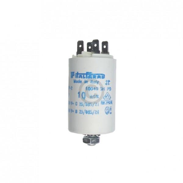 Europart Kondensator 10,00µF 450V Universal mit Steckfahnen und Befestigungsschraube