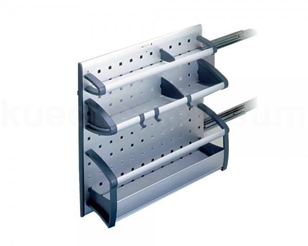Hailo Auszug 3903001 Combi Vario AluLine Seitenwandauszug 3-etagig mit Cliphaken