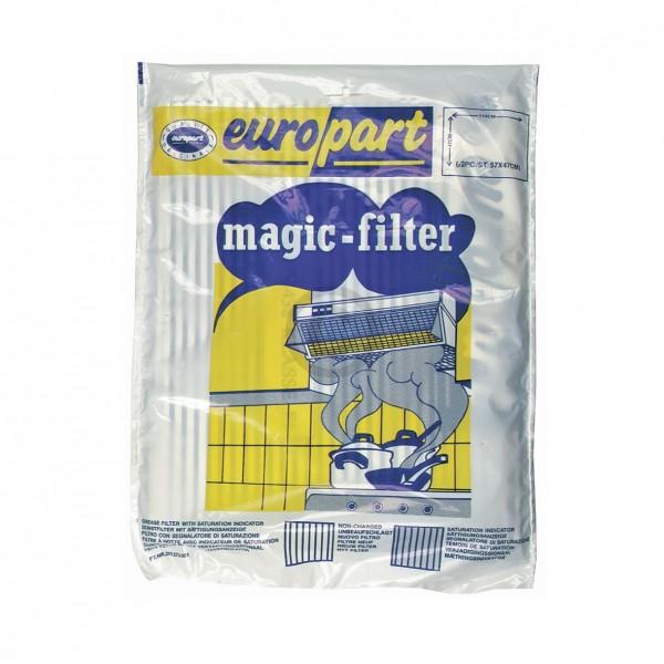 Europart Fettfiltermatte universal 570x470 mm Vliesfilter mit Sättigungsanzeige für Dunstabzugshaube
