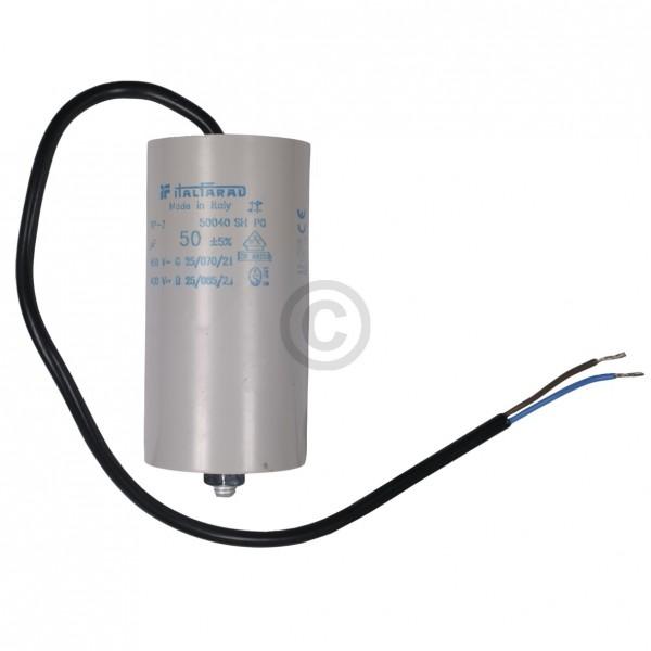 Europart Kondensator 50,00µF 450V Universal mit Anschlusskabel und Befestigungsschraube
