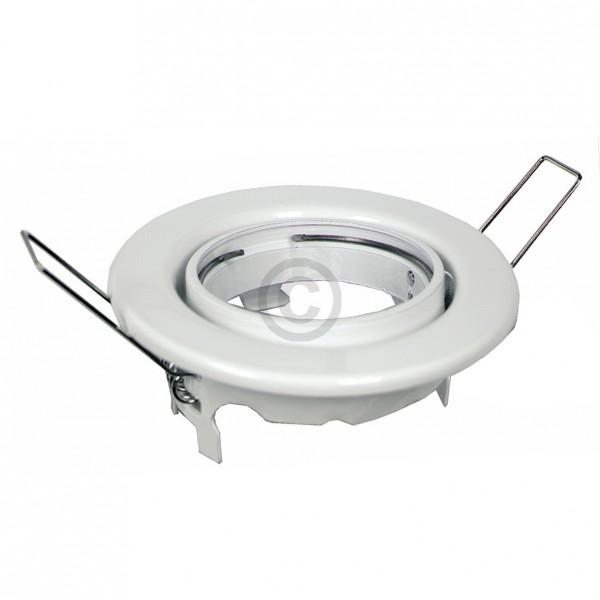 Europart Lampenhalter 89mmØweiß Metall-Einbaustrahler schwenkbar Rutec 55051