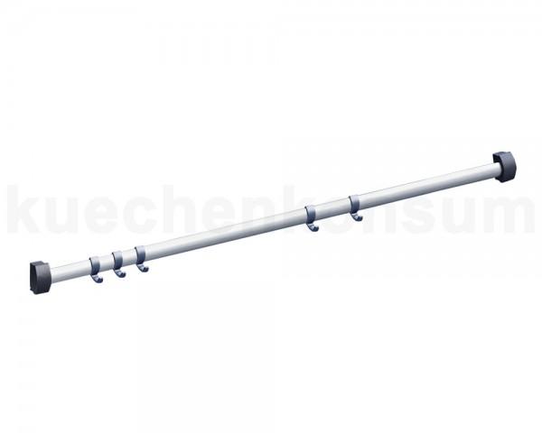 Hailo Reling 3930121 Accento Alu Line Relingstange inkl. 5 Haken - 120 cm