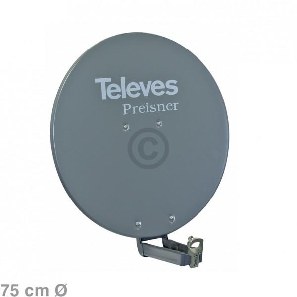 Europart SAT-Antenne 75 cm grau S75QSD-G
