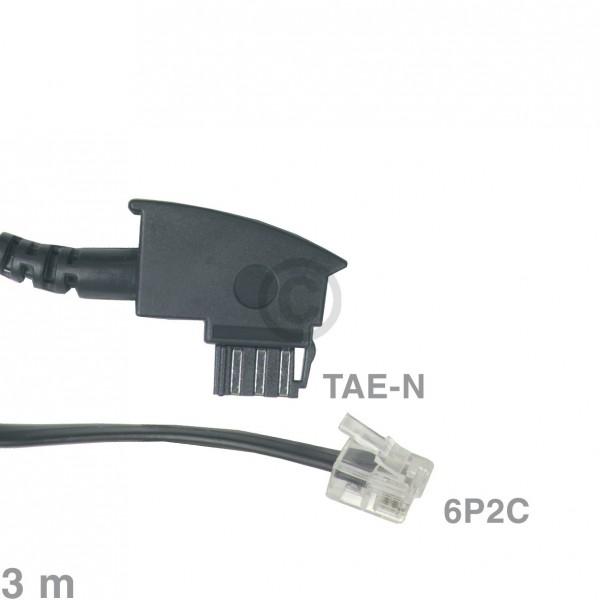 Europart Kabel Anschlusskabel TAE-N / 6P2C 3m