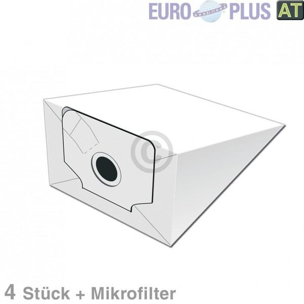 Europart Filterbeutel Europlus P2040 u.a. für Electrolux Z Serie 4 Stk