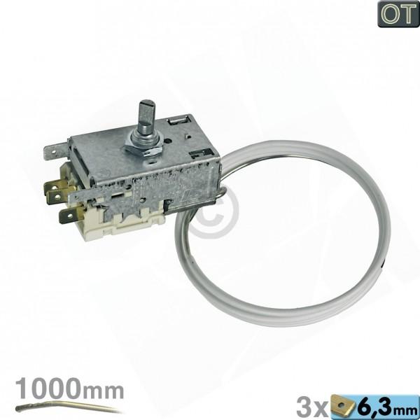 Electrolux Thermostat K59-L2598 Ranco 1000mm Kapillarrohr 3x6,3mm AMP