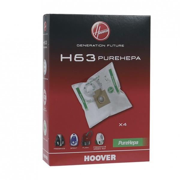 CandyHoover Filterbeutel HOOVER 35600536 H63 PureHepa für Bodenstaubsauger 4Stk