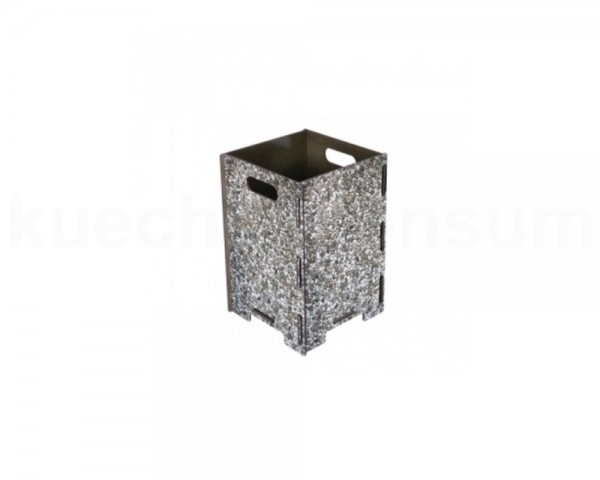 Werkhaus Papierkorb PP9203 klein Waschbeton 190 x 190 x 290 mm
