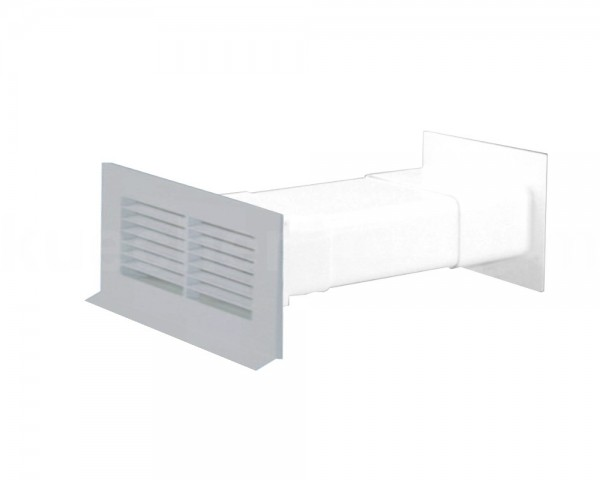 Mauerkasten 125 Soft mit Rückstauklappe teleskopierbar grau