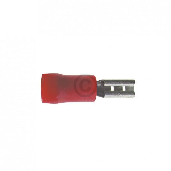 Europart Flachsteckhülse rot 6,3mm